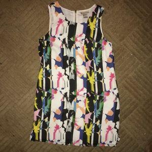Kenar Mutlicolor Patterned Tank Top Mini Dress